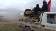 Members of Free Syrian Army launch attack on PYD targets [PKK terrorist group's affiliate in Syria] near the Syrian village of Tal Turin east of...