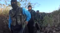 Members of Free Syrian Army launch attacks against Assad Regime Forces as part of a military operation staged to take control of regime controlled...
