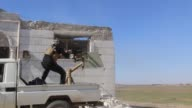 Members of Free Syrian Army stage an attack to Daesh positions around Al Hassanieh village in northwestern alBab town of Aleppo during the 'Operation...