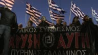 Members of Greece's neo Nazi Golden Dawn party were protesting in Athens on Saturday against illegal immigration