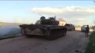 Members of Jaysh alIslam Syrian opposition group linked to Islamic Front launch attacks to retake the northern parts of Hama controlled by Syrian...