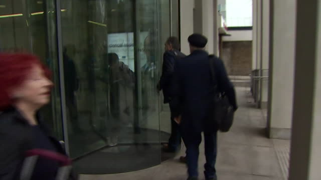 Members of Jeremy Corbyn's Shadow Cabinet arriving for a meeting