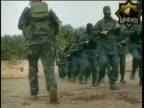 Members of radical Islamist group Fatah alIslam based in northern Lebanon marching and training with rifles/ Lebanon
