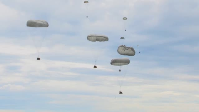 Members of the 435th Contingency Readiness Group parachuted into Lielvarde Air Base in Latvia as a part of Saber Strike 2014