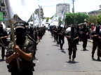 Members of the Islamist Al Ahrar group paraded through Gaza City on Tuesday to mark its twoyear anniversary It's the first military parade by an...