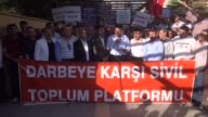 Members of the nongovernmental organizations gather at the Sanat square to protest failed military coup attempt by Gulenist Terror...