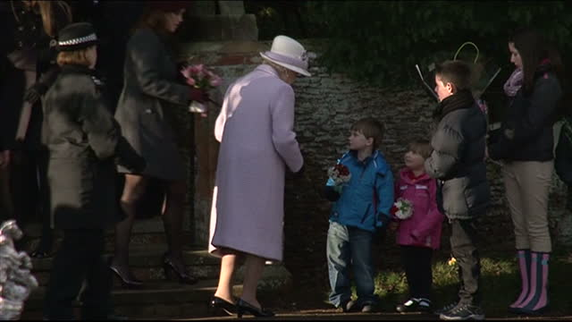 Members of the Royal family have left the church in Sandringham after this morning's Christmas serviceA record crowd gathered to see Catherine who...