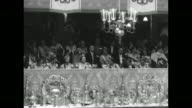 VS members of the royal family in the royal box at Queen Elizabeth II's coronation with Princess Mary pictured to the left of the Queen Mother and...