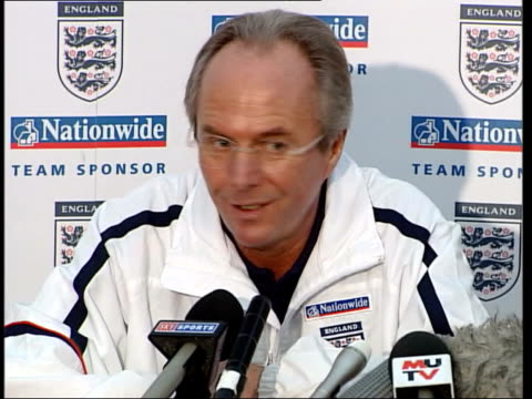 PFA members vote to strike EXT Sven Goran Eriksson towards past with two others Sven Goran Eriksson press conference SOT thinks a strike will be bad...
