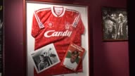 Memorabilia in the LIverpool FC Museum at Anfield on September 20 2011 in Liverpool England
