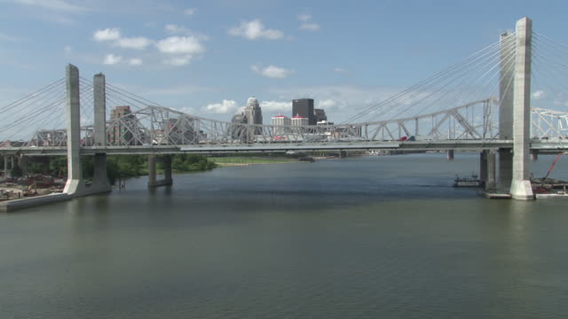 JFK Memorial Bridge With Louisville Skyline