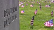 Giorno della memoria. Bandiera americana & cultura. Cimitero di guerra. Onore del patriottismo.