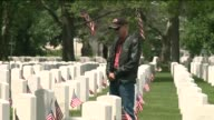 Memorial day ceremonies continue today all across the city and in Long Island family and friends paid their respects at the Long Island National...