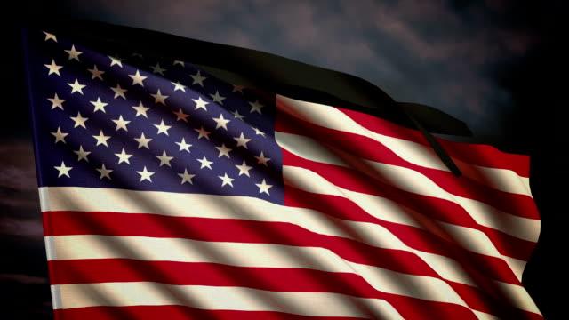 Memorial flag of USA