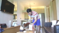 HD : Men Cleaning Home Interior