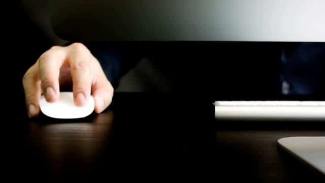 Men hand using computer