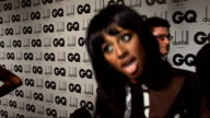 GQ Men of the Year awards 2009 Alexandra Burke interview SOT On her new look how she feels after finishing her album wearing leather in her new video...
