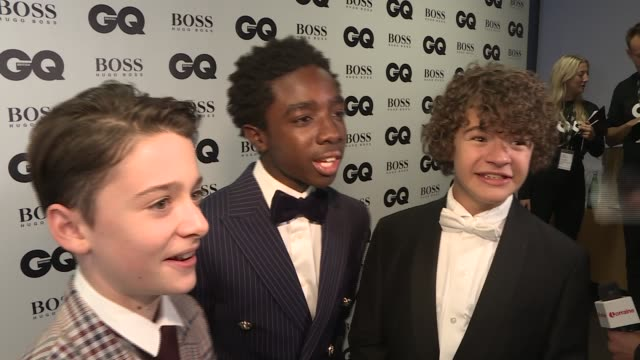 Winners' room interviews ENGLAND London Tate Modern INT Stormzy / Gordon Smart Stormzy and Jeremy Corbyn MP / Stranger Things cast and Natalie Dorman...