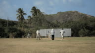 WS Men playing cricket / Springfield, St Joseph, Barbados