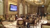 Men watch proceedings in Egyptian Parliament building