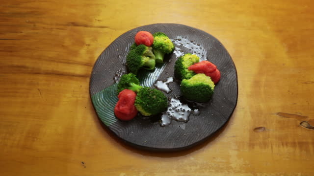 Mentaiko with Broccoli.