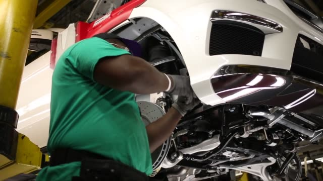 Mercedes Benz M Class and GL Class luxury vehicles are manufactured at the Mercedes Benz US International assembly plant in Vance Alabama US...