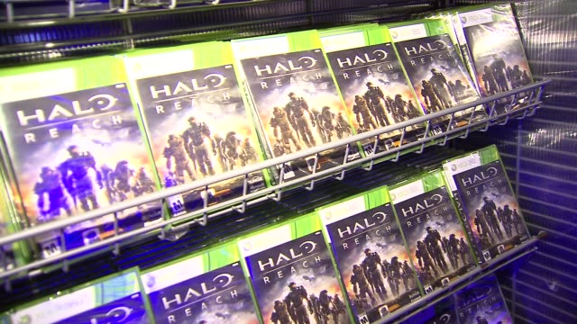 Merchandise at the 'HaloReach' Midnight Madness Launch Event with Kid Cudi at New York NY