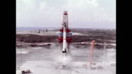 Mercury Redstone 3 launches Alan Shepard into space as the first American into space on May 05 1961 in Cape Canaveral Florida