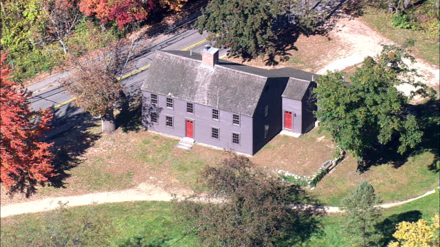 Meriam's Corner Farmhouse  - Aerial View - Massachusetts,  Middlesex County,  United States