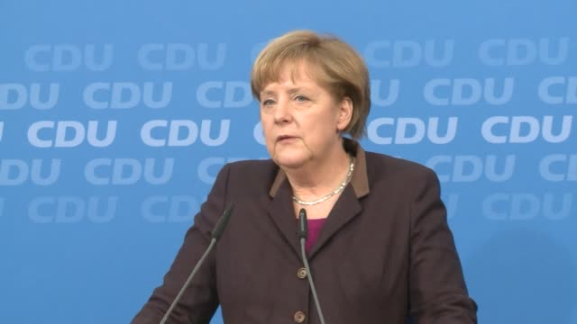 Merkel builds cabinet of rivals and on December 16 2013 in Berlin Federal Republic of Germany