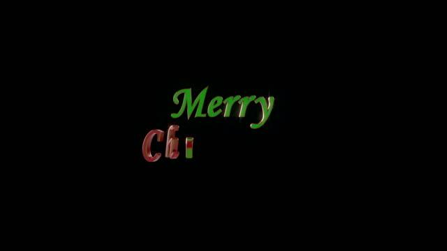 Merry Christmas text animation 4K