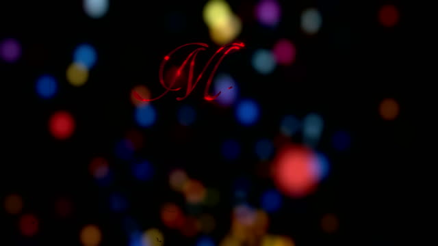 Merry Christmas text animation with abstract background-4K