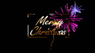 Merry Christmas With Colorful Fireworks
