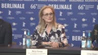 INTERVIEW Meryl Streep on the women being represented more at International Jury Press Conference 66th Berlin International Film Festival at Grand...