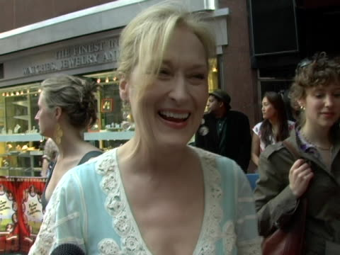 Meryl Streep on working in this wonderful ensemble and Lindsay Lohan at the New York Premiere of A Prairie Home Companion at DGA Theater in New York...