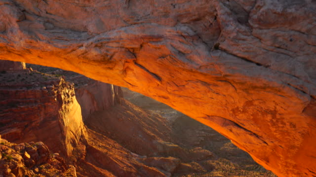 Mesa Arch at sunset, Canyonlands National Park, Utah, Usa, North America, America