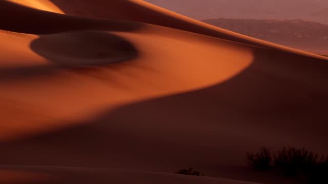 Mesquite Flat Dunes. Sunrise. Time lapse