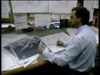 Met Office hurricane controversy Bracknell Meteorological Office Weathermen at work at desks