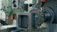 Metal Milling Machine in Process.