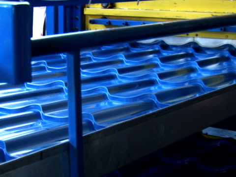 Metal Roof Tile industry - sound included, loopable, NTSC
