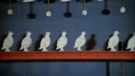 MS Metal steel bird shaped targets in carnival or arcade of shooting gallery