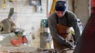 MS TU TD Metalsmith working in his studio / Santa Fe, New Mexico, United States