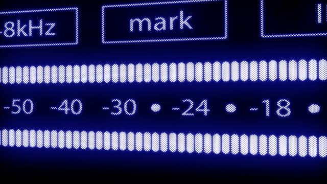 VU meter of DAT recorder