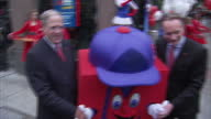 Metro Bank the first high street bank to be opened in the UK for over 100 years opens its doors Exterior shots of photo op of Chief Executive Craig...