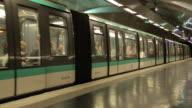 Metro Train at Saint-Germain-des-Pres, Paris, France, Europe