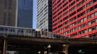 Metro Train in downtown Chicago