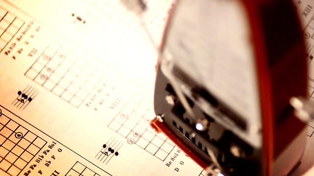 metronome beats time on a musical score