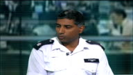 Metropolitan Police defends decision to excuse Muslim police officer from guarding Israeli embassy ENGLAND London GIR INT Superintendent Dal Babu...