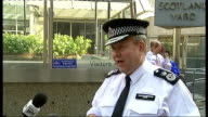 Metropolitan Police extend stop and search powers to target knife crime in London ENGLAND London Scotland Yard EXT Assistant Commissioner Tim Godwin...
