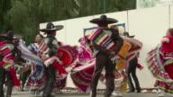 WS ZI MS Mexican Folk Dancers From Oaxaca / Jilotepec, Mexico